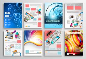 foto of web template  - Set of Flyer Design - JPG