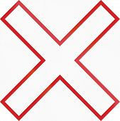 picture of railroad-sign  - Canadian warning sign at a level crossing - JPG