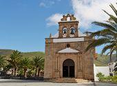 stock photo of canary-islands  - The church of Nuestra senora de la Pena in Vega de Rio Palmas on the Canary Island Fuerteventura - JPG