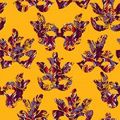 pic of carnival rio  - Seamless pattern with carnival mask - JPG