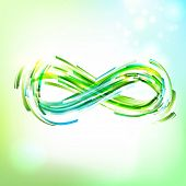 picture of infinity symbol  - Infinity symbol at sky - JPG