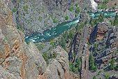 Verdes águas do Rio Gunnison