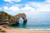 Durdle Door A Naturally Eroded Limestone Arch In Dorset Uk