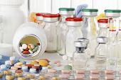 picture of antibiotics  - macro photographed in studio environment vaccines - JPG