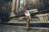 picture of old couple  - Couple Walk In Old Town Lviv - JPG