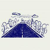 pic of long winding road  - Road - JPG