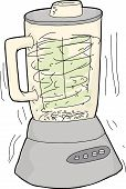 pic of whip-hand  - Single hand drawn cartoon blender chopping food - JPG