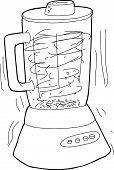 foto of blender  - Cartoon blender shaking as it chops up food - JPG