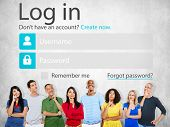 pic of accountability  - Casual People Account LogIn Security Protection Concept - JPG