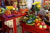 Постер, плакат: Offerings Of Fruit To Fertility Deity