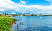 picture of brasilia  - Bridge in Brasilia - JPG