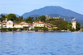 stock photo of lagos  - view of well known Lago Maggiore Italy - JPG