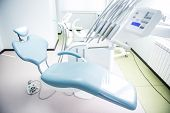 pic of dentist  - Different dental instruments and tools in a dentists office - JPG