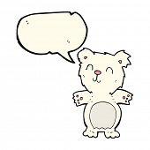 stock photo of bear-cub  - cartoon polar bear cub - JPG