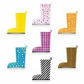 Seven Shiny Rainboots