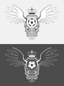 stock photo of logo  - Vector university league logo template - JPG