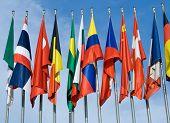 Euro Zone International Flags