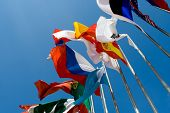 stock photo of flag pole  - International Flags - JPG
