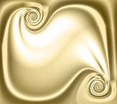 Gold Abstract Satin Blank Scroll Swirl Design With Copyspace