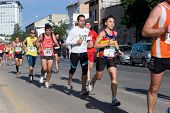 VALENCIA, SPAIN - NOVEMBER 15:  Runners of the IX Vuelta a Pie Es Posible 5K road race on November 1