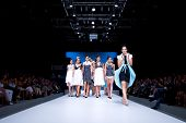 VALENCIA, SPAIN - SEPTEMBER 1: Models on the catwalk wear Tonuca design for the Valencia Fashion Wee
