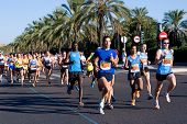 VALENCIA, SPAIN - SEPT 12: Runners compete in the 34th Volta a Peu de San Marcelion  run on September 12, 2010 in Valencia, Spain.