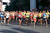 VALENCIA, SPAIN - OCTOBER 24: Runners compete in the XIII Gran Fondo de Manises run on October 24, 2