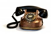 picture of bakelite  - Unique Vintage Telephone from the mid fifties made from bronze copper and bakelite - JPG