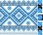 two colors embroidered good like handmade cross-stitch ethnic Ukraine pattern