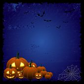 Blue Halloween background
