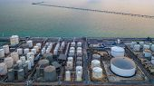 Storage Of Liquid Chemical And Petrochemical Products Tank, Aerial View. poster