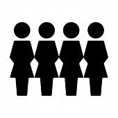 Persons Icon Vector Female Group Of People Symbol Avatar For Business Management People In Flat Colo poster