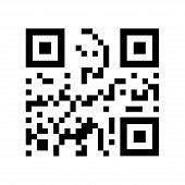 Vector Qr Code. Qr Code In Flat Style. Black Qr Code. Barcode Qr Code poster