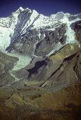 Langtang Peak And Glacial Moraines