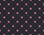 Funny Princess Pattern With Geometrical Structure And Sweet Donuts. Donut Sweets Princess Pattern, C poster