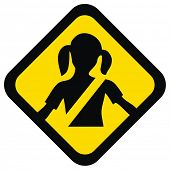 VECTOR - Warning Sign - For Your Kid Safety Help them to Fasten Seat belt to save the child life - I