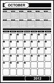 VECTOR - Calendar Design 2012 - October