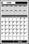 VECTOR - Calendar Design 2012 - June