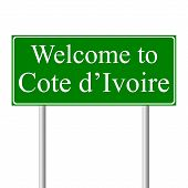 Welcome To Cote D'ivoire, Concept Road Sign