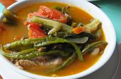 stock photo of luzon  - Seafood in white bowl on the Luzon Island - JPG
