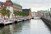 Frederiksholms Kanal And Holmens Bro In Copenhagen
