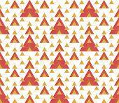 Triangular Seamless Geometric Pattern. Seamless Abstract Triangle Geometrical Background. Modern Inf poster