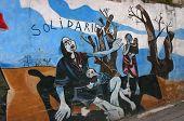 Mural: Protesting Sudan'S Genocide In Darfur