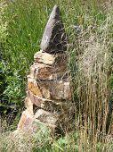 Small stone pyramid