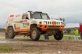 Portalegre, Portugal - November 3: Zdenek Prizek Drives A H3 Evo In Baja 500, Integrated On Fia Worl