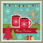 Cartão de Natal de chocolate quente
