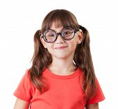Cheerful Girl With Glasses