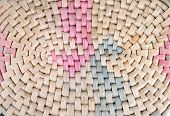 high definition straw basket pattern as background