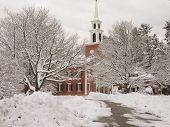 Church in snow