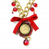 Red Pendant With Queen
